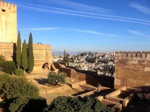Blick von der Alhambra auf das Viertel Albaicín