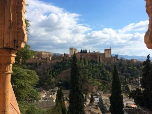 Blick auf die Alhambra Granadas von Albaicín
