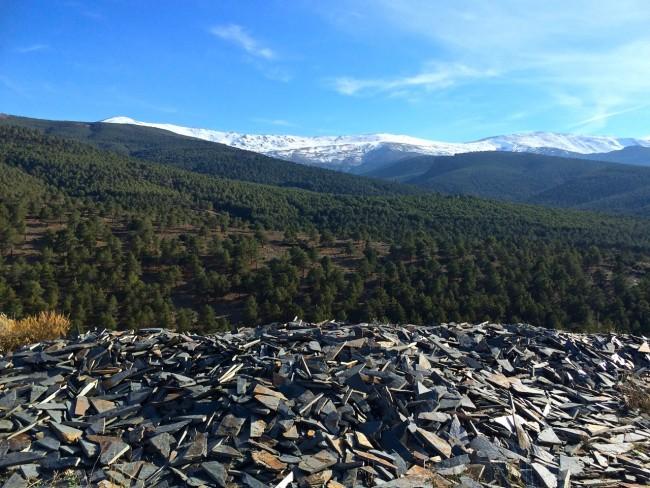 Die Ausläufer der Sierra Nevada unmittelbar südlich von Alquife.