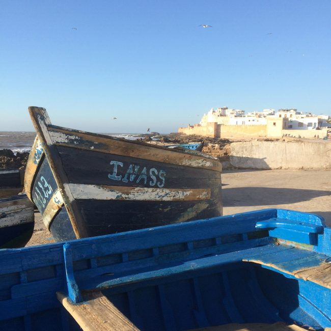 Fischerboote, Essaouira, Marokko