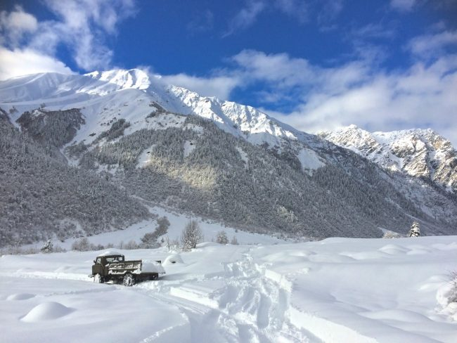 Das Ende der Straße: im Winter durch Georgien